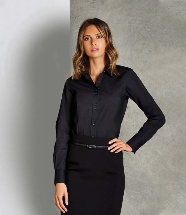 Kustom Kit Ladies Long Sleeve City Business Shirt K388