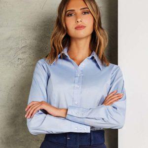 Kustom Kit Ladies Long Sleeve Corporate Oxford Shirt K702