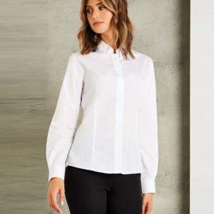 Kustom Kit Ladies Long Sleeve Mandarin Collar Shirt K261