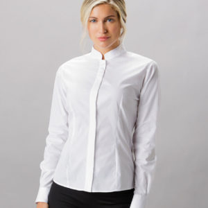 Kustom Kit Ladies Long Sleeve Tailored Mandarin Collar Shirt K261