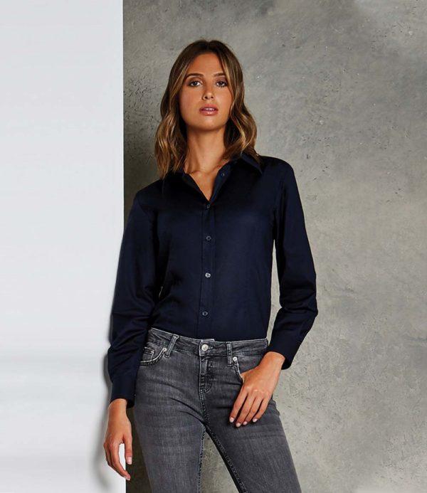 Kustom Kit Ladies Long Sleeve Workwear Oxford Shirt K361