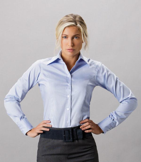Kustom Kit Ladies Premium Long Sleeve Tailored Oxford Shirt K702