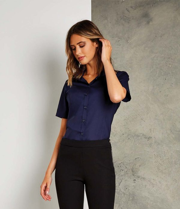 Kustom Kit Ladies Short Sleeve Business Shirt K742F