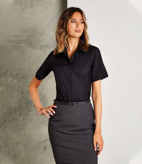 Kustom Kit Ladies Short Sleeve City Business Shirt K387