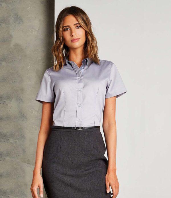 Kustom Kit Ladies Short Sleeve Corporate Oxford Shirt K701