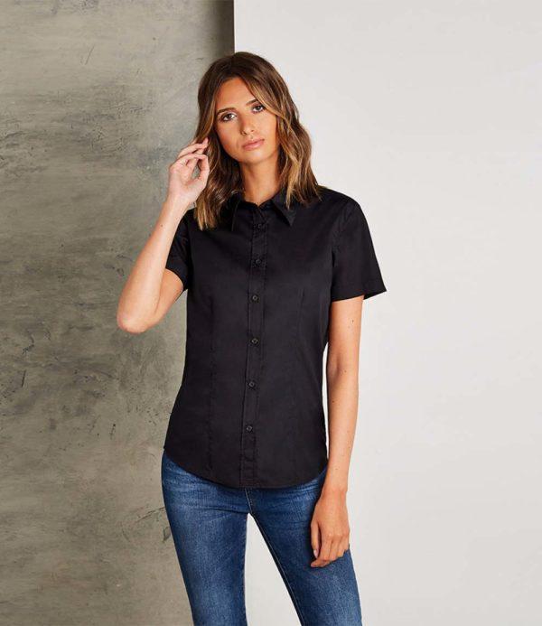 Kustom Kit Ladies Short Sleeve Workforce Shirt K728