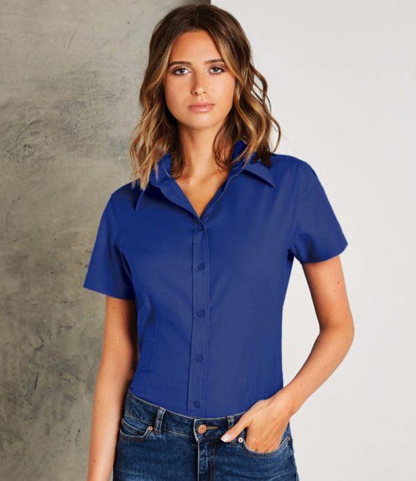Kustom Kit Ladies Short Sleeve Workwear Oxford Shirt K360