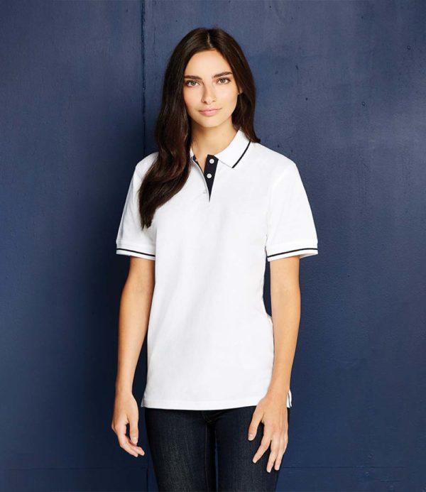 Kustom Kit Ladies St Mellion Tipped Cotton Pique Polo Shirt K706