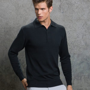 Kustom Kit Long Sleeve Arundel Knitted Polo K356