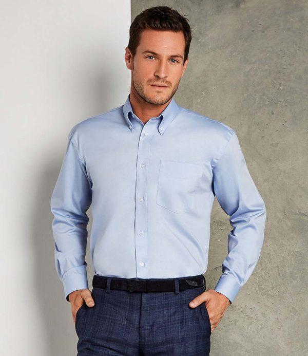 Kustom Kit Long Sleeve Corporate Oxford Shirt K105