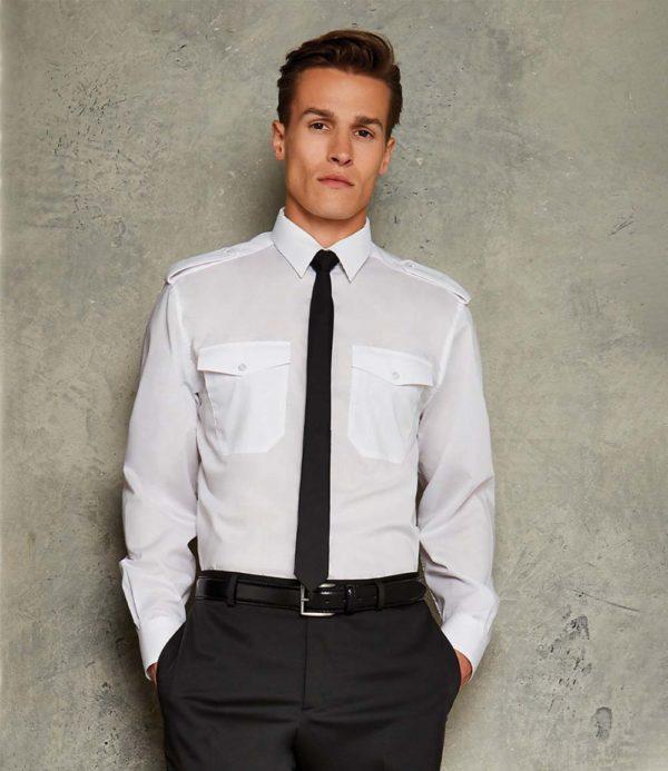 Kustom Kit Long Sleeve Pilot Shirt K134
