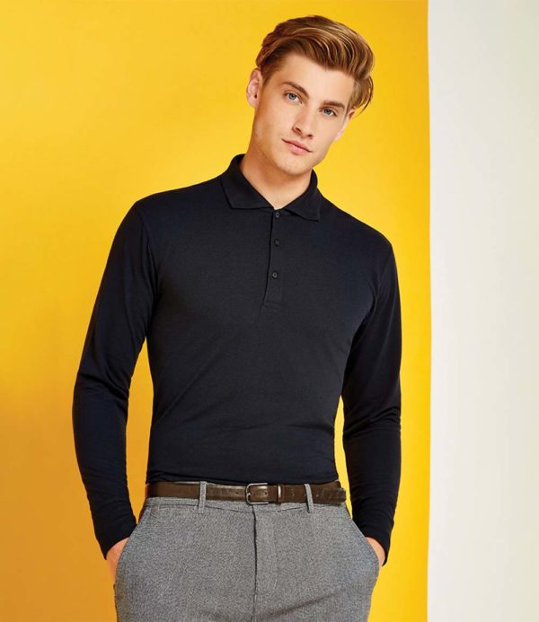 Kustom Kit Long Sleeve Poly Cotton Pique Polo Shirt K430