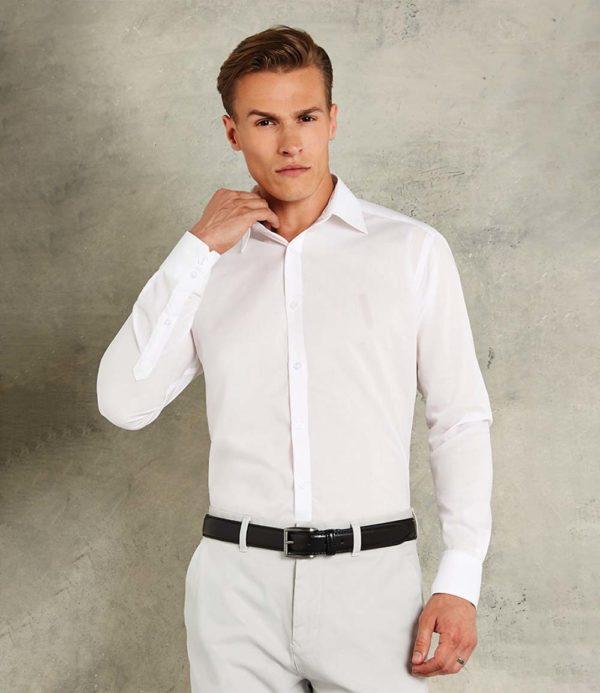 Kustom Kit Long Sleeve Slim Fit Business Shirt K192