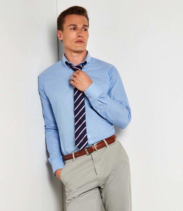 Kustom Kit Long Sleeve Slim Fit Workwear Oxford Shirt K184