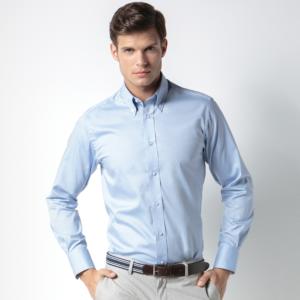 Kustom Kit Long Sleeve Tailored Oxford Shirt K188