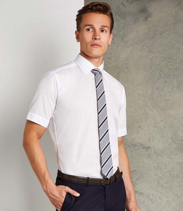 Kustom Kit Short Sleeve Slim Fit Business Shirt K191