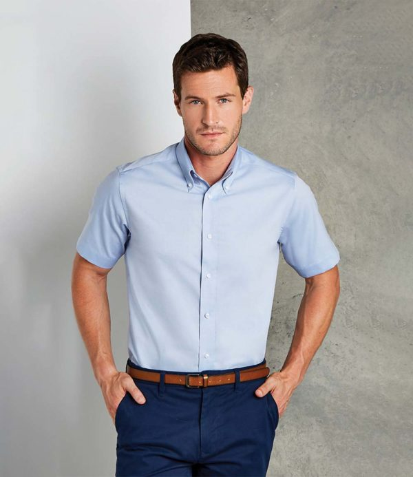 Kustom Kit Short Sleeve Tailored Premium Oxford Shirt K187