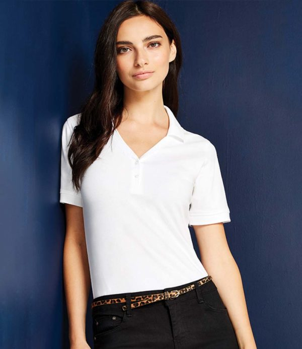 Kustom Kit Sophia Comfortec V Neck Polo Shirt K732