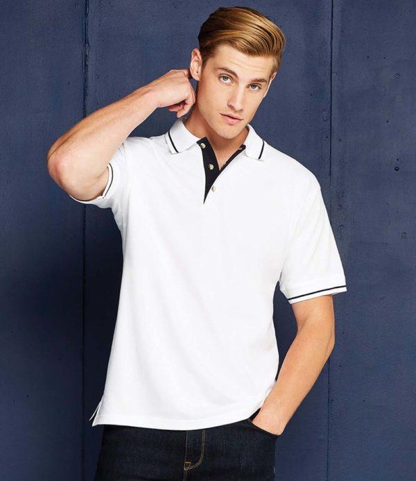 Kustom Kit St Mellion Tipped Cotton Pique Polo Shirt K606