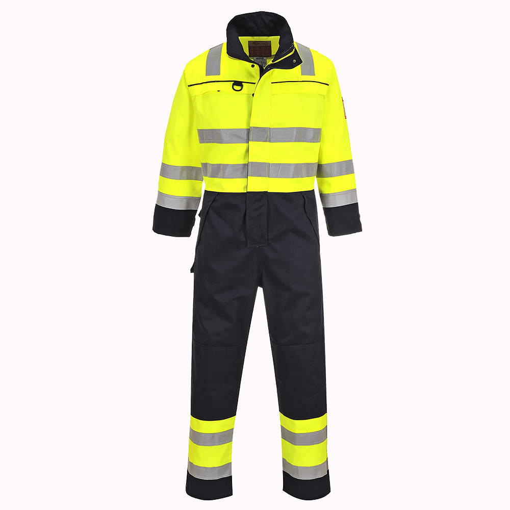 Hi-Vis Bizflame Multi-Norm FR Anti-Static Coverall FR60 Portwest