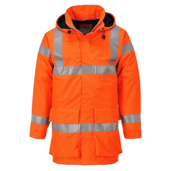 Portwest Bizflame Rain Hi-Vis FR Multi Lite Jacket S774 Orange