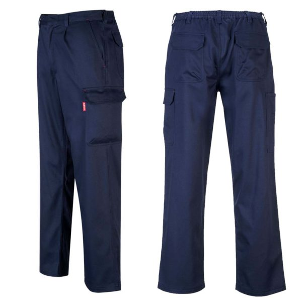 Portwest Bizweld Flame Resistant Cargo Trousers BZ31 Navy Blue