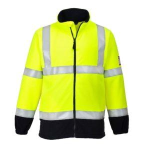 Portwest Flame Resistant Anti-Static Hi-Vis Fleece Jacket FR31
