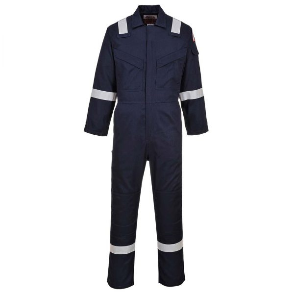Portwest Flame Resistant Super Light Weight Anti-Static Coverall FR21 Navy Blue