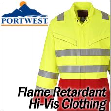 Portwest Flame Retardant Hi-Vis Clothing
