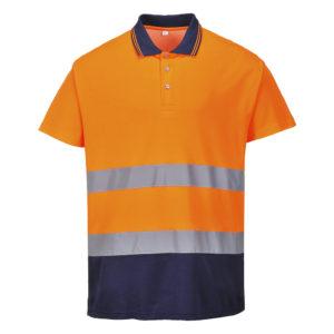 Portwest Hi-Vis 2-Tone Cotton Comfort Polo S174 Orange