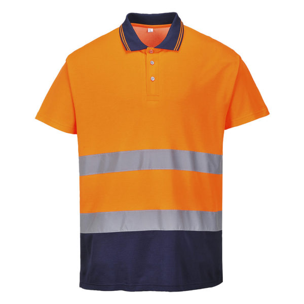 Portwest Hi-Vis 2-Tone Cotton Comfort Polo S174 Orange