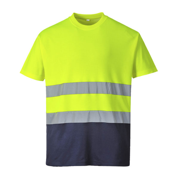 Portwest Hi-Vis 2-Tone Cotton Comfort T-Shirt S173 Yellow