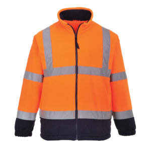 Portwest Hi-Vis 2-Tone Fleece Jacket F301 Orange