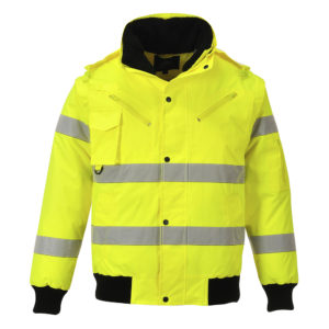 Portwest Hi-Vis 3-in-1 Bomber Jacket C467 Yellow