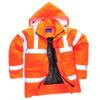 Hi-Vis Breathable Waterproof Jacket RT60 Orange Portwest
