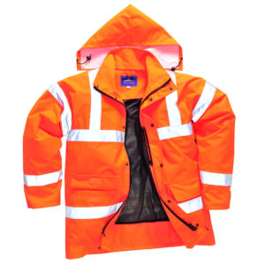 Portwest Hi-Vis Breathable Waterproof Jacket RT60 Orange