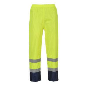 Portwest Hi-Vis Classic Contrast Rain Trousers H444 Yellow/Navy