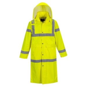 Portwest Hi-Vis Classic Waterproof Long Raincoat H445