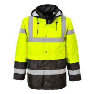 Portwest Hi-Vis Contrast Traffic Jacket S466 Yellow Black