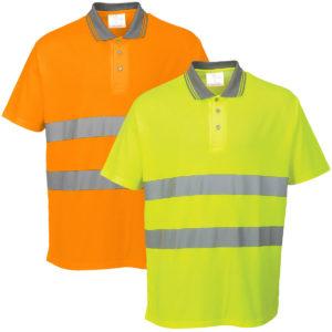 Portwest Hi-Vis Cotton Comfort Polo Shirt S171