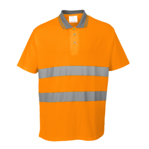 Portwest Hi-Vis Cotton Comfort Polo Shirt S171 Orange