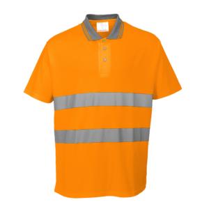 Portwest Hi-Vis Cotton Comfort Polo Shirt S171 Orange