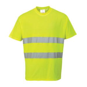 Portwest Hi-Vis Cotton Comfort T-Shirt S172 Yellow