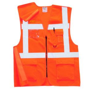 Portwest Hi-Vis Executive Rail Vest GO/RT RT26