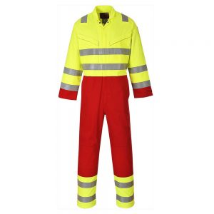 Portwest Hi-Vis Flame Resistant Anti-Static Services Coverall FR90