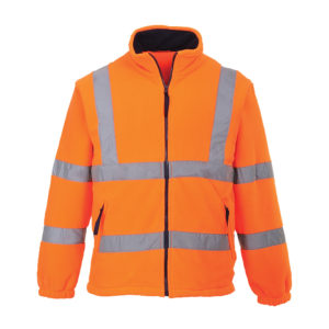 Portwest Hi-Vis Mesh Lined Fleece Jacket F300 Orange