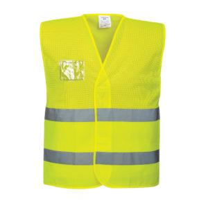 Portwest Hi-Vis Mesh Vest With ID Window C494 Yellow