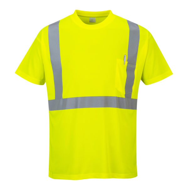 Portwest Hi-Vis Pocket T-Shirt S190 Yellow