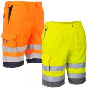 Portwest Hi-Vis Poly Cotton Shorts E043