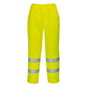 Portwest Hi-Vis Poly Cotton Trousers E041 Yellow